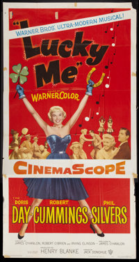 """Lucky Me Lot (Warner Brothers, 1954). Three Sheet (41"""" X 81"""") and Six Sheet (81"""" x 81""""). Musical..."""