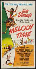 "Movie Posters:Animated, Melody Time (RKO, 1948). Three Sheet (41"" X 81""). Animated.. ..."