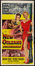 "Movie Posters:Crime, New Orleans Uncensored (Columbia, 1954). Three Sheet (41"" X 81"").Crime.. ..."