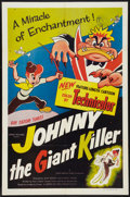 "Movie Posters:Animated, Johnny the Giant Killer (Lippert, 1953). One Sheet (27"" X 41"").Animated.. ..."