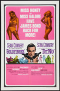 "Movie Posters:James Bond, Goldfinger/Dr. No Combo (United Artists, R-1966). One Sheet (27"" X41""). James Bond.. ..."