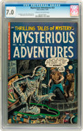 Golden Age (1938-1955):Horror, Mysterious Adventures #23 (Story Comics, 1954) CGC FN/VF 7.0 Creamto off-white pages....