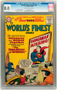 World's Finest Comics #84 (DC, 1956) CGC VF 8.0 Cream to off-white pages