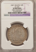 Early Half Dollars, 1807 50C Draped Bust -- Obverse Damaged -- NGC Details. VF. O-102.NGC Census: (38/1303). PCGS Population (98/740). Mintage...
