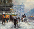 Fine Art - Painting, European:Modern  (1900 1949)  , EDOUARD-LÉON CORTÈS (French, 1882-1969). Place de l'Opera.Oil on canvas. 22 x 18 inches (55.9 x 45.7 cm). Signed lower ...(Total: 3 Items)