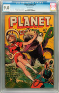 Golden Age (1938-1955):Science Fiction, Planet Comics #42 (Fiction House, 1946) CGC VF/NM 9.0 Off-white pages....