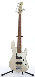 Musical Instruments:Bass Guitars, 1997 Fender American Roscoe Beck V Pewter Electric Bass Guitar #SN7948550....