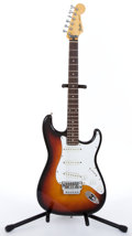 Musical Instruments:Electric Guitars, 1984-87 Fender Stratocaster Japan Sunburst Electric Guitar #E519874....