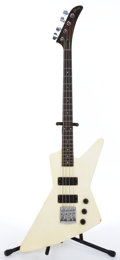 Musical Instruments:Electric Guitars, 1984 Gibson Explorer White Electric Bass Guitar #83204546....
