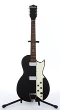 Musical Instruments:Electric Guitars, 1960-70's Silvertone Black Electric Guitar # N/A....