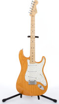 Musical Instruments:Electric Guitars, 2002 Fender American Amber Stratocaster Electric Guitar#Z1050413...