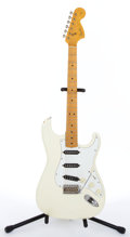 Musical Instruments:Electric Guitars, Circa 1988 Fender Stratocaster White Electric Guitar #E812189...