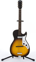 Musical Instruments:Electric Guitars, 1950's Silvertone Single Cutaway Sunburst Electric Guitar #NA...