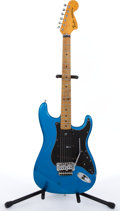 Musical Instruments:Electric Guitars, 1979 Fender Customized Stratocaster Blue Electric Guitar#S972732...