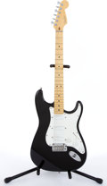 Musical Instruments:Electric Guitars, 1995 Fender Stratocaster Plus Black Electric Guitar #N544139...