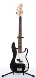 Musical Instruments:Electric Guitars, 2000's Squier by Fender P-Bass Black Electric Bass #IC031225642...