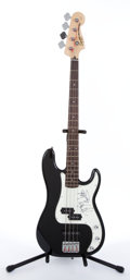 Musical Instruments:Electric Guitars, Squier Precision by Fender Autographed Electric Bass Guitar #IC041043677...