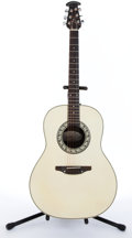 Musical Instruments:Acoustic Guitars, 1980's Ovation Balladeer 1111-6 White Acoustic Guitar #016367...
