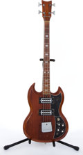 Musical Instruments:Bass Guitars, Vintage Kay SG Copy Cherry Electric Bass Guitar # N/A....