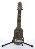 Musical Instruments:Lap Steel Guitars, Vintage Unknown Maker Pewter Marble Lap Steel Guitar # N/A....