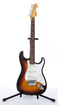 Musical Instruments:Electric Guitars, 1980's Fender Stratocaster Sunburst Electric Guitar #E695479....