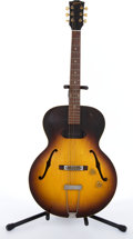 Musical Instruments:Electric Guitars, Vintage Gibson Sunburst Archtop Semi-Hollow Body Electric Guitar #N/A. ...