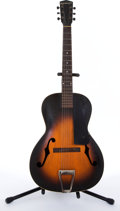 Musical Instruments:Acoustic Guitars, Vintage Kalamazoo By Gibson Sunburst Archtop Acoustic Guitar # N/A....