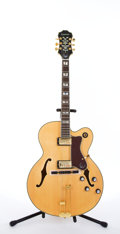 Musical Instruments:Electric Guitars, Epiphone Broadway Natural Archtop Electric Guitar #I06082303....