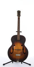 Musical Instruments:Acoustic Guitars, Vintage Gretsch New Yorker Sunburst Archtop Acoustic Guitar #N/A....
