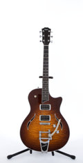 Musical Instruments:Electric Guitars, Modern Taylor T3/B Flame Top Semi-Hollow Electric Guitar#20090716611....