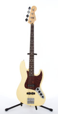 Musical Instruments:Bass Guitars, 2006/7 Fender Jazz Cream Electric Bass Guitar # MZ6178150....
