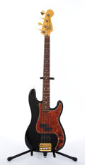 Musical Instruments:Bass Guitars, 1983 Fender Precession Elite Black Electric Bass Guitar #E319871....