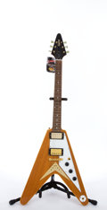 Musical Instruments:Electric Guitars, 2000's Epiphone Gibson Flying V Natural Electric Guitar#U01103702....
