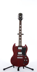 Musical Instruments:Electric Guitars, Epiphone Gibson SG Cherry Electric Guitar #MC03040298....