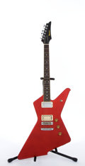 Musical Instruments:Electric Guitars, 1980's Ibanez DT-50 Red Electric Guitar #F804012....