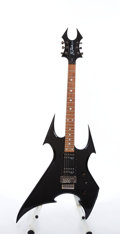 Musical Instruments:Electric Guitars, Modern B.C. Rich Beast Black Electric Guitar #11202523....