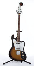 Musical Instruments:Bass Guitars, Vintage Teisco Sunburst 4 String Bass Guitar # N/A....