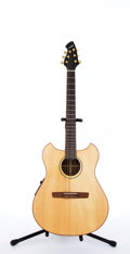 Musical Instruments:Acoustic Guitars, Modern Wechter Pathmaker 732-One Natural Electric Acoustic Guitar #N/A....