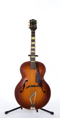 Musical Instruments:Acoustic Guitars, Vintage Gretsch Synchromatic Sunburst Archtop Acoustic Guitar#9754....