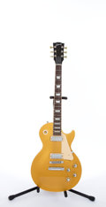 Musical Instruments:Electric Guitars, 2000 Gibson Les Paul Deluxe Limited Edition Goldtop Electric Guitar#01170614....