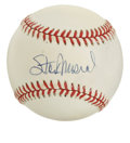 Autographs:Baseballs, Stan Musial Single Signed Baseball. Legendary slugger for the St.Louis Cardinals Stan Musial dominates the ONL (White) orb...