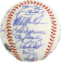 Autographs:Baseballs, 1998 New York Yankees World Champion Team Signed Baseball. Comingoff their remarkable 114-win season in 1998, the New York...