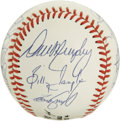 Autographs:Baseballs, 1989 Atlanta Braves Team Signed Baseball. A total of 18 members ofthe '89 Atlanta Braves have checked in on the surface of...