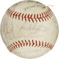 Autographs:Baseballs, 1960 Chicago Cubs Team Signed Baseball. A whopping 28 signaturesappear before us here with this Chicago Cubs souvenir orb ...