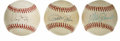 Autographs:Baseballs, Pete Rose/Mike Schmidt/Denny McLain Single Signed Baseball Lot of3. Lot of 3 baseballs. Pete Rose adorns the ONL (Feeney) ...