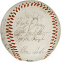 Autographs:Baseballs, 1975 San Diego Padres Team Signed Baseball. Eighteen signaturesfrom the 1975 San Diego Padres appear on the Padres souveni...