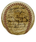 Autographs:Baseballs, 1950 Boston Red Sox Team Signed Baseball. A whopping 27 members ofthe 1950 Boston Red Sox have checked on the OAL (Harridg...