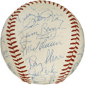 Autographs:Baseballs, 1967 Cincinnati Reds Team Signed Baseball. In their first fullseason under the leadership of skipper Dave Bristol, the Cin...