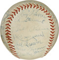 Autographs:Baseballs, 1952 Chicago White Sox Team Signed Baseball. The 1952 Chicago WhiteSox are represented here with the 24 signatures that we...