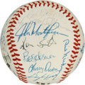 Autographs:Baseballs, 1981 Atlanta Braves Team Signed Baseball. The NL West champions forthe 1982 season are represented here with this high-qua...